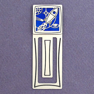 Rocket Engraved Bookmark