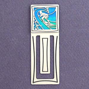 Surfer Engraved Bookmark