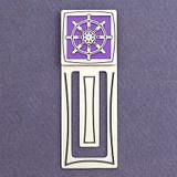 Captain's Wheel Engraved Metal Bookmark