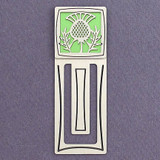 Scottish Thistle Engraved Bookmark