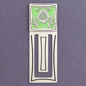 Scottish Thistle Engraved Bookmark