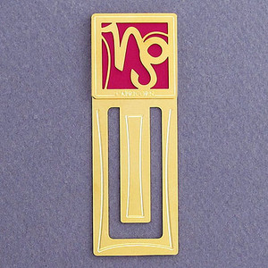 Capricorn Engraved Bookmark