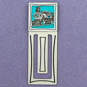 Train Engraved Bookmark