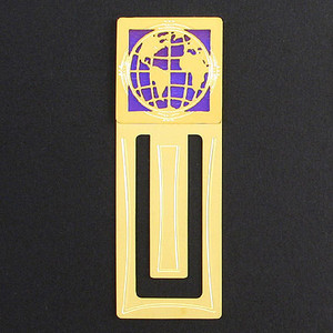 Globe Engraved Bookmark