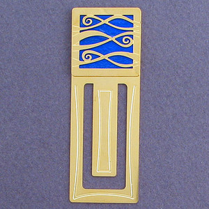 Ribbony Waves Engraved Bookmark