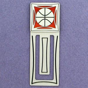 Basketball Engraved Bookmark