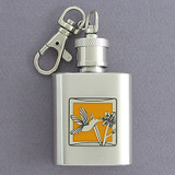 Hummingbird Keychain Flask