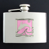 Dolphin Liquor Flasks 4 Oz.