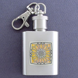 Sunflowers Key Chain Flask