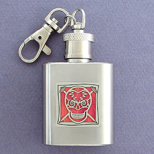 Skulls Flask Key Chain