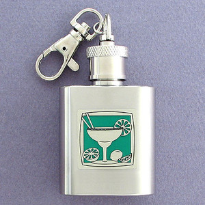 Margaritas Cocktail Key Chain Flask