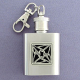 Spinning Vortexes Key Chain Flask