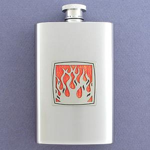 Flame Liquor Hip Flask 4 Oz. Polished