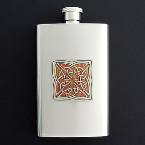 Unique Celtic Flasks 4 Oz. Mirror Finish