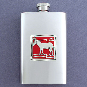Donkey Pocket Flask - 4 Ounce Stainless Steel