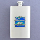 Window Cats Pocket Flask 4 Oz. Stainless Steel