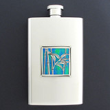 Bamboo Hip Flask 4 Oz Stainless Steel