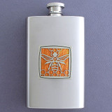Bumblebee Pocket Flask 4 Oz Stainless Steel
