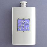 Wedding Bells Hip Flask 4 Oz Stainless Steel