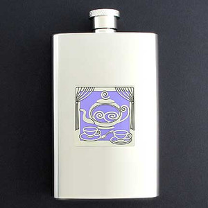 Teapot Hip Flask 4 Oz Stainless Steel