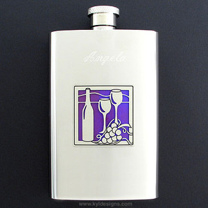 Wine Pocket Flask 4 Oz. Stainless Steel