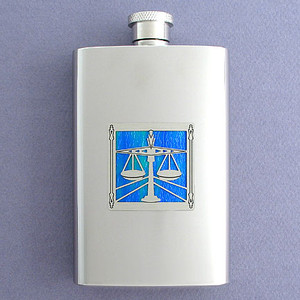 Lawyer Hip Flask 4 Oz Stainless Steel