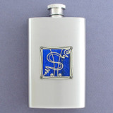 Dollar Sign Hip Flask 4 Oz Stainless Steel