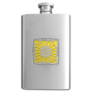 Sunflower Liquor Flask 4 Oz.