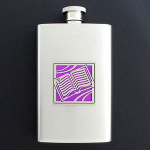 Book Group Hip Flask 4 Oz. Stainless Steel