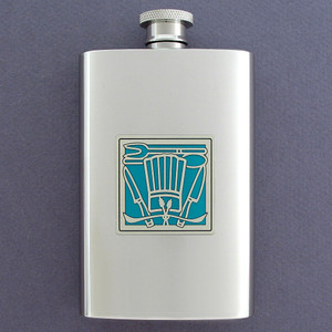 Chef's Hat Hip Flask 4 Oz Stainless Steel