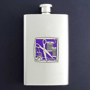 Sewing Hip Flask 4 Oz Stainless Steel