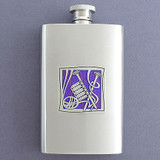 Knitting Stainless Steel Drinking Flask 4 Oz.