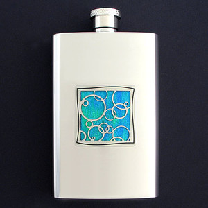 Fun Bubbles Hip Flask 4 Oz. Stainless Steel