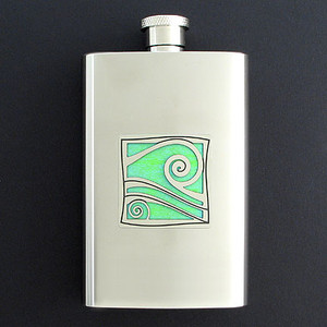 Aquarius the Water Carrier Hip Flask 4 Oz Stainless Steel