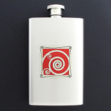 Spiral Hip Flask 4 Oz Stainless Steel