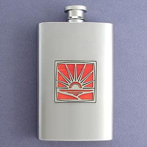 Sunrise Hip Flask 4 Oz Stainless Steel