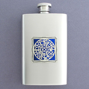 Zodiac Horoscopes Pocket Flask 4 Oz. Stainless Steel