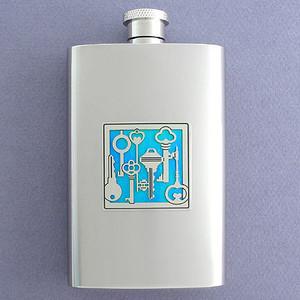 Keys Flask 4 Oz Stainless Steel