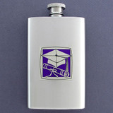 Grad's Hip Flask 4 Oz Stainless Steel