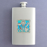 Drink Your Veggies Hip Flask 4 Oz Stainless Steel