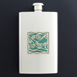 Vines Hip Flask 4 Oz Stainless Steel