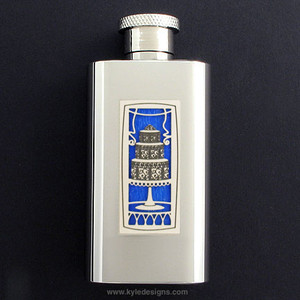 Wedding Cake Flask in 2 Oz Stainless Steel