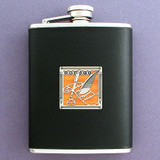 Journalists Black Leather Wrapped 6 Oz. Flasks