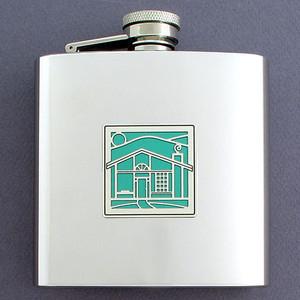 Unique 6 Oz Investment Property Flasks