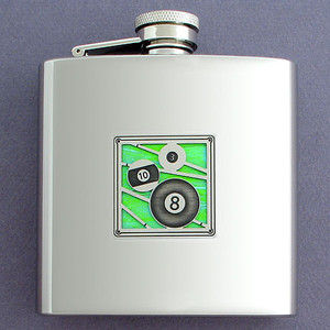 6 Oz Billiards Hip Flasks