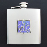 Wedding Drinking Flask 6 Oz. Polished