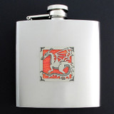 Stainless Steel Dragon Flask 6 Oz. Polished