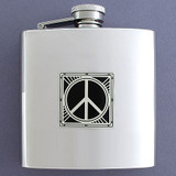Peace Sign 6 Oz Drinking Flasks