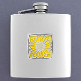 Sunflowers 6 Oz Drinking Flasks