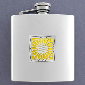 Sunflowers 6 Oz Drinking Flasks